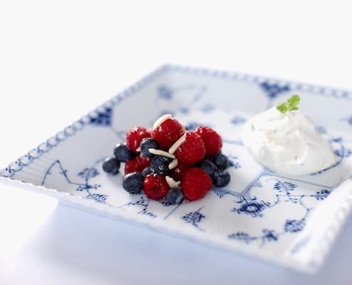 Fresh Berry Salad With Vanilla Yoghurt And Almonds - Photo By Mads Damgaard