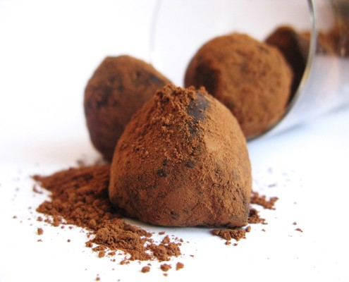 Chocolate-beer truffles