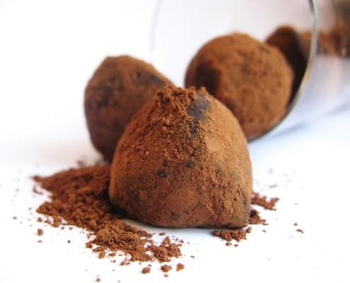 Chocolate-beer truffles