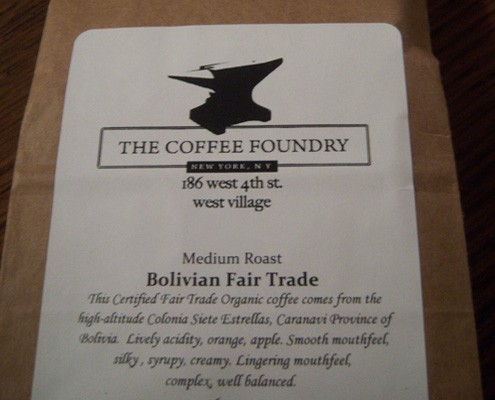 Coffee Foundry Bolivian Fair Trade