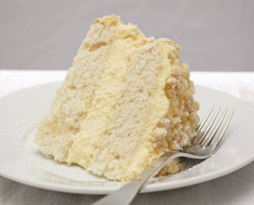 Slice of Lemon Cream Cake