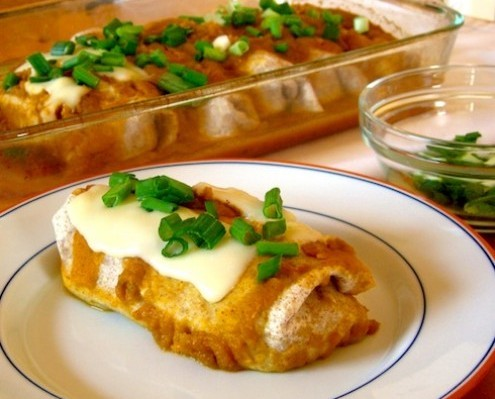Enchiladas With Pumpkin Sauce