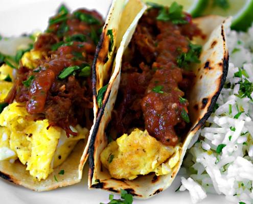 Orange And Beer Braised Pork Carnitas Breakfast Tacos – Honest ...