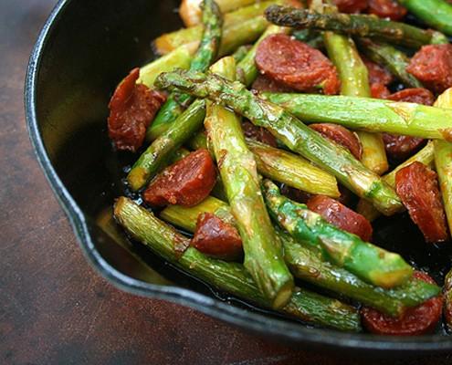 Asparagus with Spanish Chorizo Sausage