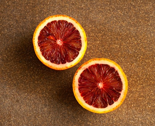crimson colored blood orange