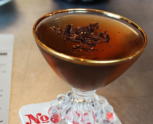 LOT No. 3 Manhattan with chocolate bitters - photo by Denise Sakaki