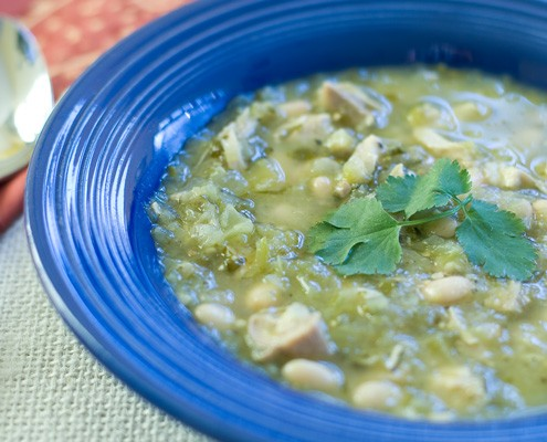 Chicken Chili Verde With Beans Honest Cooking