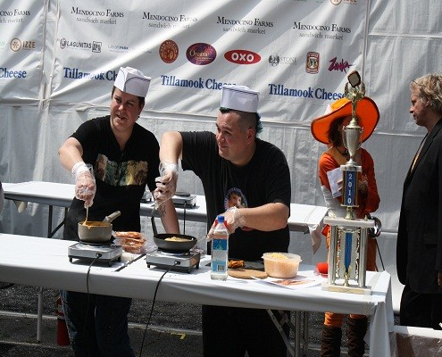 Competitors at the Grilled Cheese Invitational 2011
