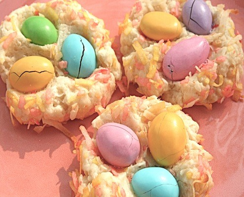 Almond M&M Easter Nests