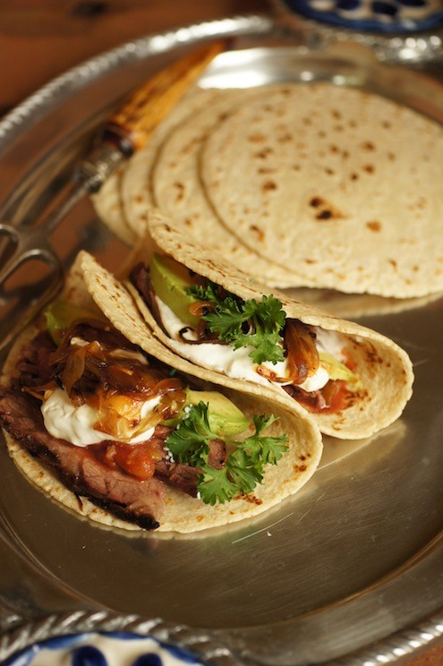 Soft Tacos with BBQ Flap SteakSoft Tacos