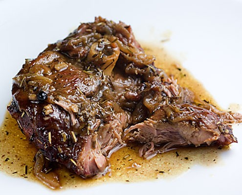 Braised Rosemary Lamb Shoulder