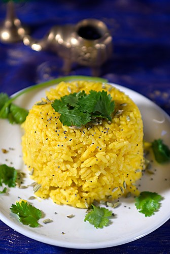 Colorful Vegan Turmeric Rice
