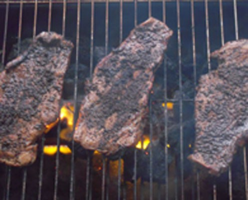 Coffee And Beer Steaks Grilled