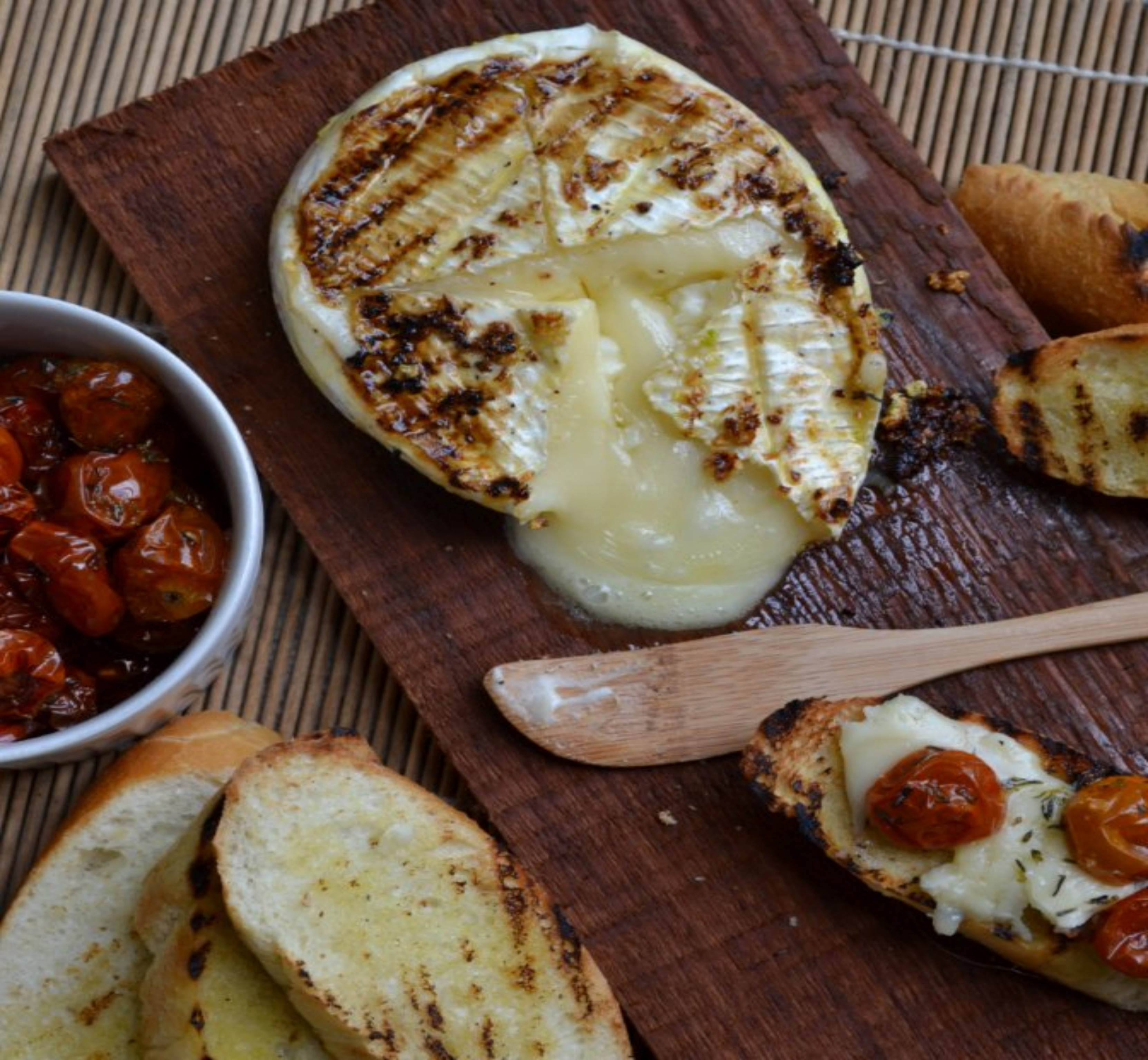 Grilled Brie And Ciabatta With Slow-Roasted Sunblushed Tomatoes ...