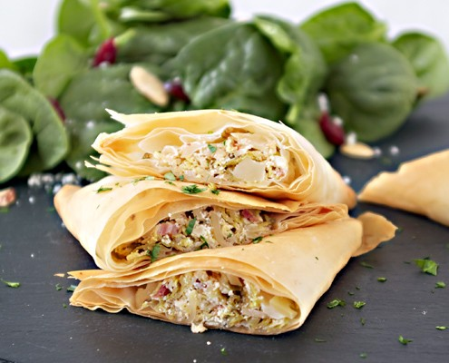 Brussels Sprout and Goat Cheese Turnovers