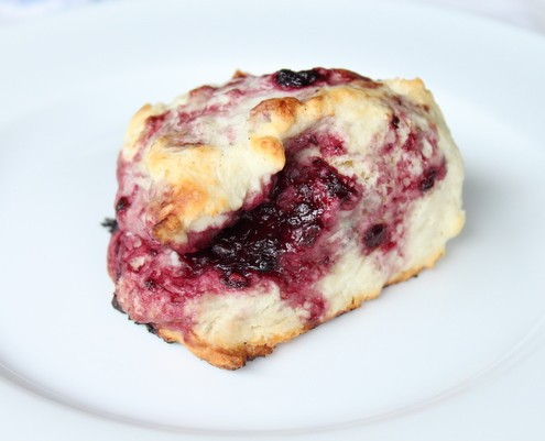 Blackberry Maple Scones