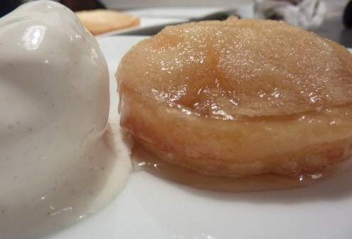 Mini Tarte Tatins with Vanilla Ice Cream