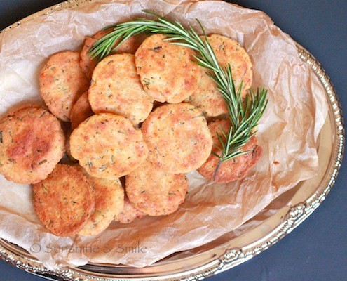 Rosemary & Parmesan Savory Cookies