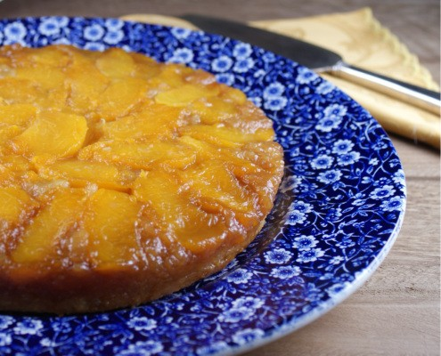 Summertime Peach Upside-Down Almond Cake