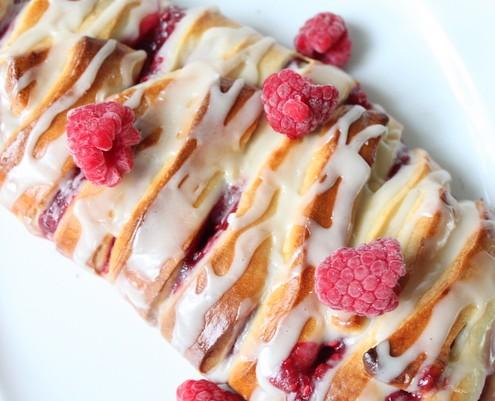 Raspberry Pastry Braid