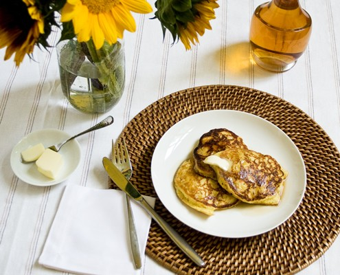 Cornmeal Pancakes with fresh corn