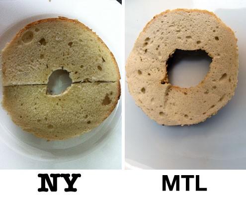 New York bagels versus Montreal bagels