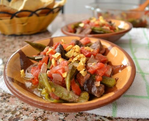 middle eastern okra casserole