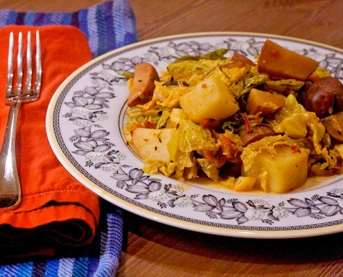 Indian Cabbage and Potato Curry