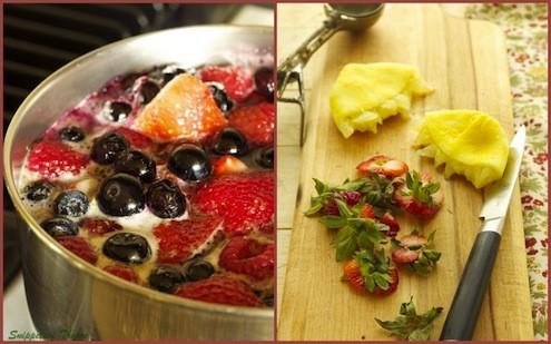 Mixed Berry Sorbet and Vanilla Shortbread Cookies – Honest Cooking