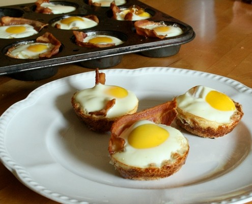 Bacon, Egg and Toast Cups | HuffPost