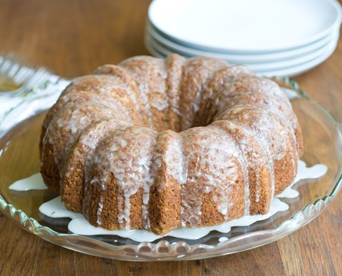 Zucchini Cake with Lemon Crunch Icing