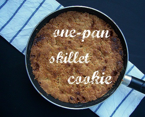 One-pan Caramel and White Chocolate Chunk Skillet Cookie – Honest ...