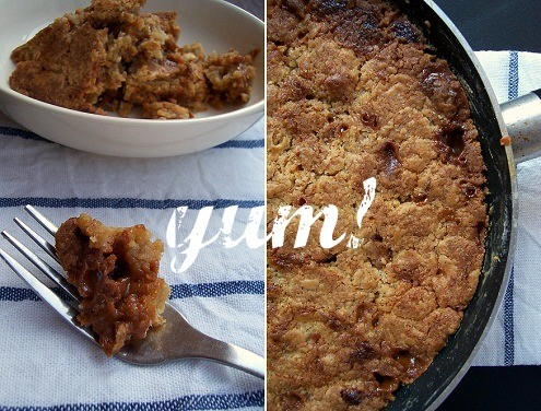 One-pan Caramel and White Chocolate Chunk Skillet Cookie - Honest ...