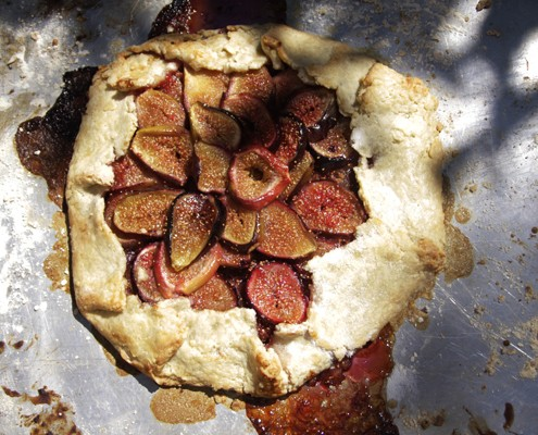 Back in L.A. Fig Galette - Honest Cooking