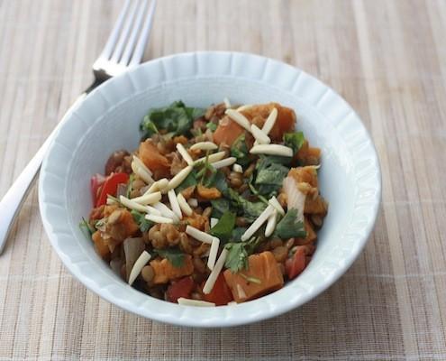 garam masala lentils and potatoes