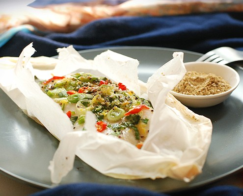 Sole en Papillote with an Egyptian Dukkah
