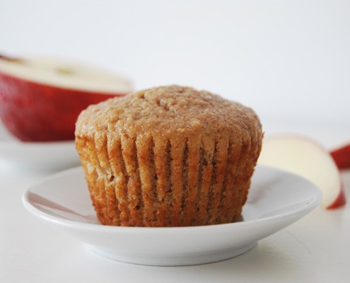Whole-Wheat Applesauce Muffins
