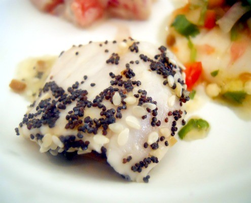 Raw Fish with Seeds