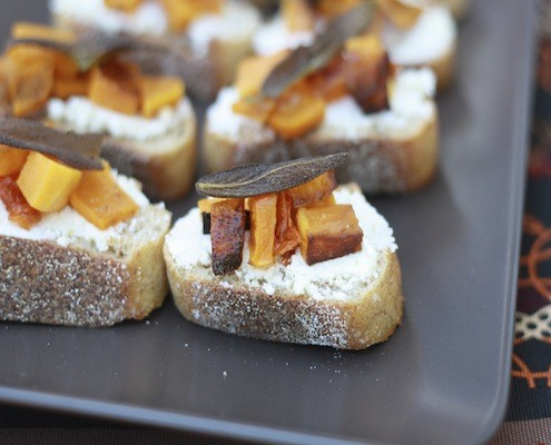 ... : Butternut Squash, Sage and Ricotta Crostini – Honest Cooking