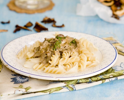 pasta with porcini sauce