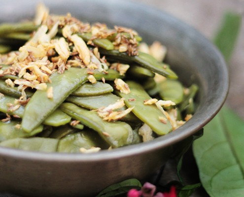 Warm Flat Beans Salad