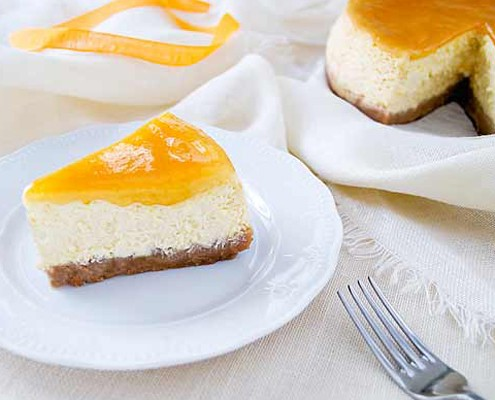 Creamy Orange Cheesecake - Honest Cooking