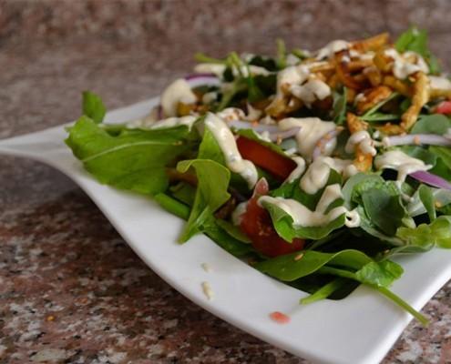 eggplant arugula salad