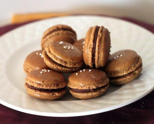 Christmas Macarons.Peppermint Mocha Macarons For Xmas
