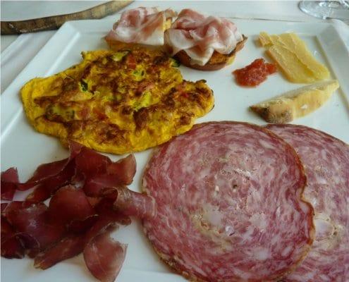 Antipasti - meats, cheese, fritatta