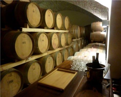 Inside the cellar at Contra Soarda