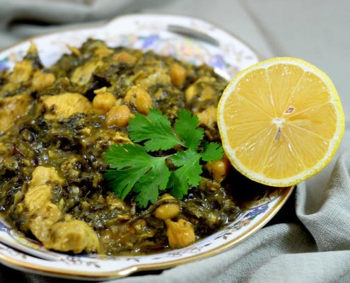 Persian Khoresht of Chicken and Herbs