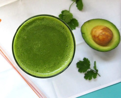 Tropical Cilantro Smoothie