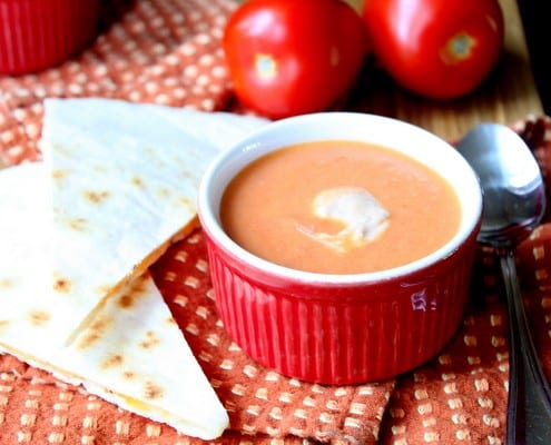 Roasted Tomato Bisque with Chipotle Cream
