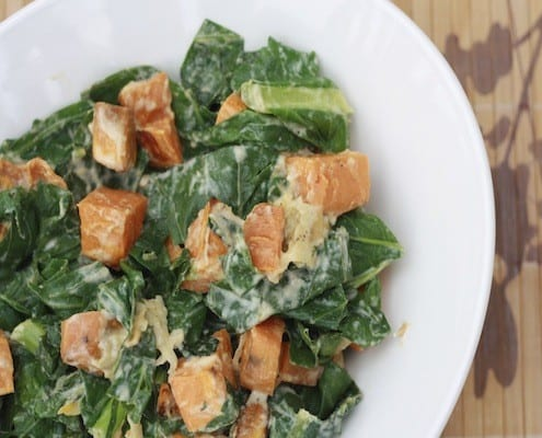 Sweet Potato Greens Salad
